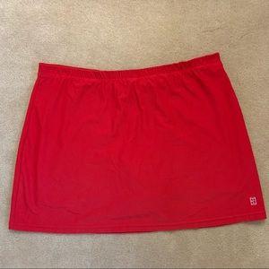 Nike red athletic tennis skirt skort